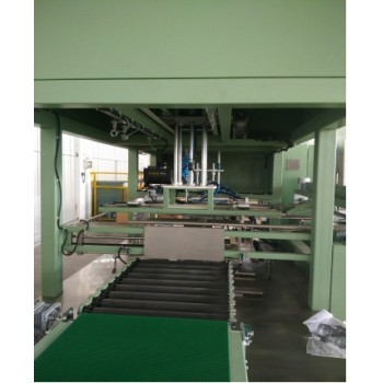 Wrap Around Case Packer For Carpet Blocks Carton Packaging and Hot melt Glue Sealing for sale