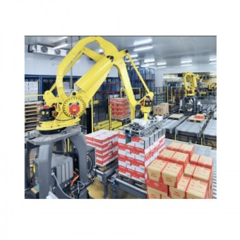 Automatic  Robotic Palletizer For Bottling Water and Beverage for sale