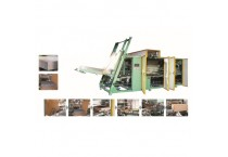 Wrap Around Case Packer For Carpet Blocks Carton Packaging and Hot melt Glue Sealing